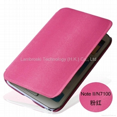 Samsung Galaxy Note 2 N7100 Genuine Leather Case OEM Order is acceptable