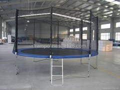 14 feet trampoline with sleev and  safety net