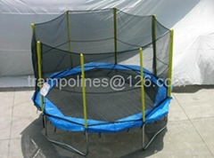 Octagonal 14ft Trampolines with Enclosure
