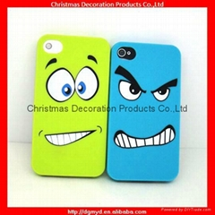 Funny silicone cell phone cases for Iphone 4/4s