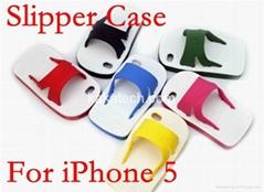 Cute Summar Slipper TPU Silicone Back Protective Case for Iphone 5G