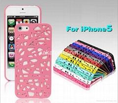 Bird Nest Design Hollow Net Hard Back Cover Case for Apple iPhone 5G