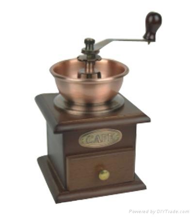 Manual wood coffee grinder mill 3