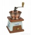 Manual wood coffee grinder mill 1