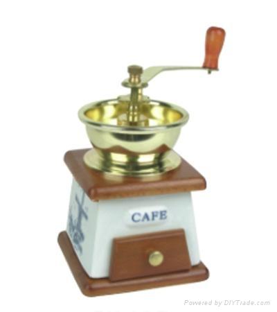Manual wood coffee grinder mill 2