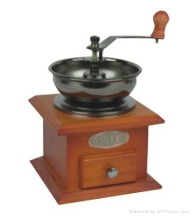 Manual wood coffee machine grinder 2