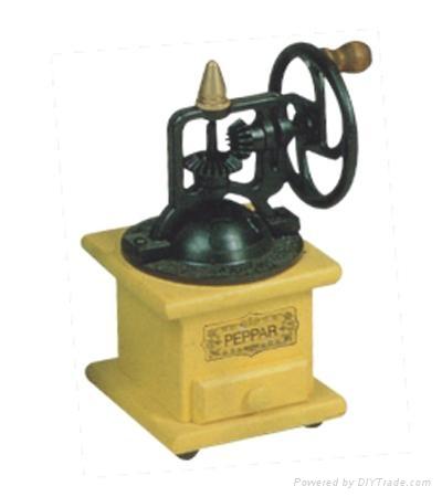 Manual wood coffee machine mill 2