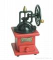 Manual wood coffee machine mill 4