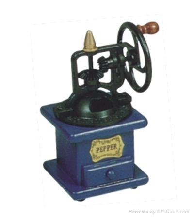 Manual wood coffee machine mill 5