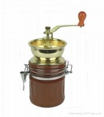 Manual coffee machine mill