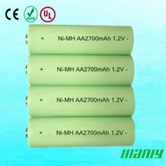 AA 2700mah nimh rechargeable battery