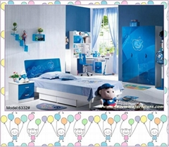 Good quality high gloss children bedroom sets