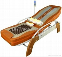 ceragem therapy jade roller massage bed with back lifting