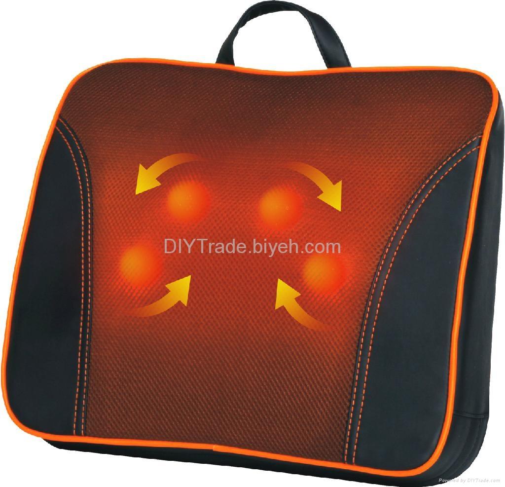U-waist shiatsu massage cushion with infrared soothing heat 1