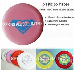 round shape plastic frisbee