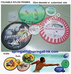 Advertising foldable nylon frisbee