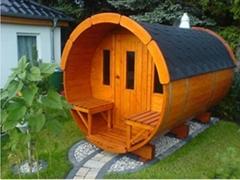 Fashion Barrel Solid Wood Sauna Room