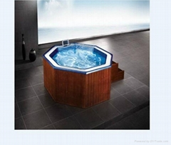 Special Shape 6Persons Acrylic Hot Tubs Whirl Pool Spa Bath With Overflow Water