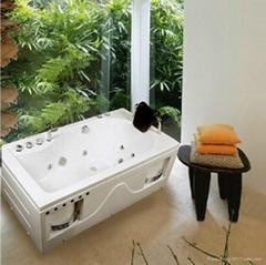 1500*800*580mm Luxury Acrylic Massage Mini Bathtub SR5D012