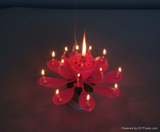 Magic Flower Birthday Music Cake Decoration Candle 2
