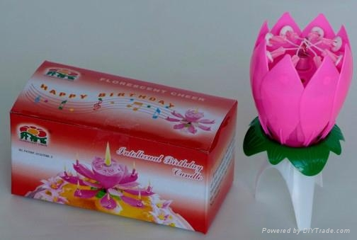 Singing Open Mouth Flower Birthday Music Candle 1