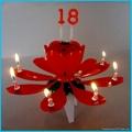 Aotu-rotating birthday music flower cake Candle