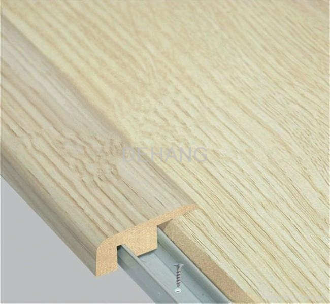 Mdf f type end cap molding for laminate floor