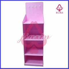 promotion product corrugated paper floor display racks