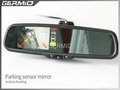 3.5 inch car rear view mirror monitor with parking sensor