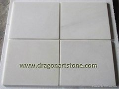 Pure white marble flooring and wall tile