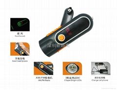 2013新款手搖發電電筒收音機