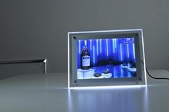 backlit LED crystal slim light box