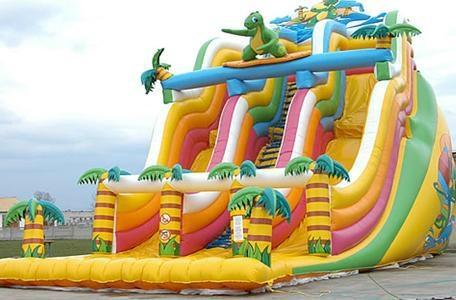 Cute Dinosaur Inflatable Slider 1