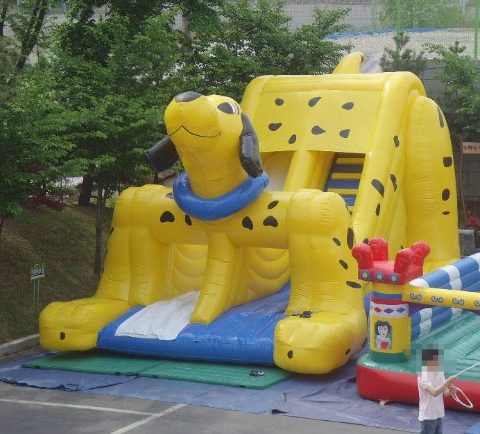 Spotty Dog Inflatable Slide 1