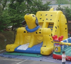 Spotty Dog Inflatable Slide