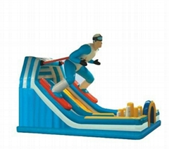 Skier Inflatable Slide
