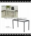 Office table leg steel Metal laser cut Stainless steel dining table legs 5