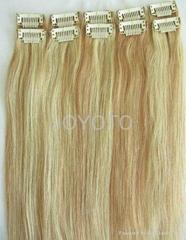 brazilian virgin clip in human hair extension