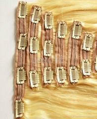 brazilian clip in human hair extension