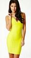 2013 yellow bandage dresses