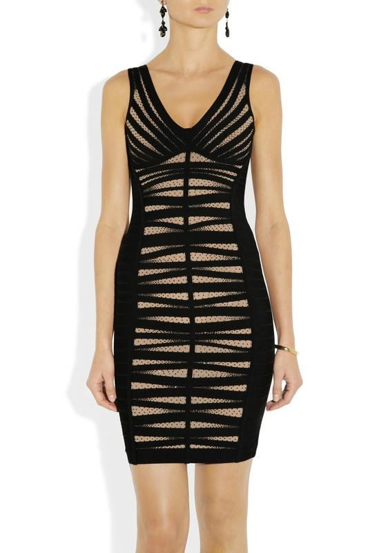 ladies round neck party dress with beads 2
