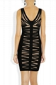 ladies round neck party dress with beads 3