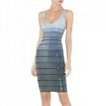 silver beads gradient grey women's dress