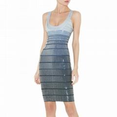 si  er beads gradient grey women's dress supplier
