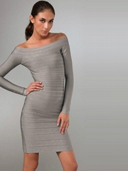 2014 flat shoulder dress ladies clothing
