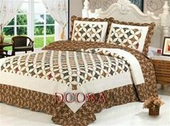 Patchwork 100%Cotton Quilt Bed Setting 3PCS & 4PCS