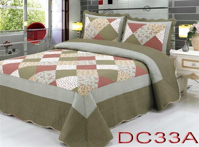 Cotton patchwork quilts duvet cover set bedding set dd for Design of household linens