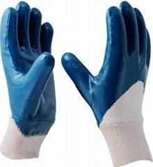 3/4 coated nitrile glove