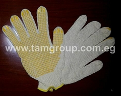 PVC Dotted Knitted Cotton Working Gloves