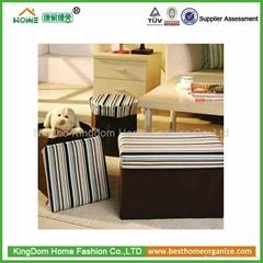 Fabric Folding Storage Ottoman